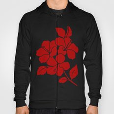 Hibiscus Animal RED IVORY Hoody