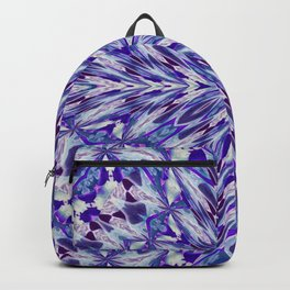 Purple and White Spray Pattern Backpack