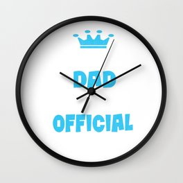 Proud Dad of an Official Teenager, 13th B-Day Party graphic Wall Clock