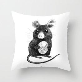 La Petite Souris Throw Pillow