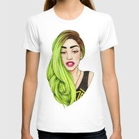 lady T-shirts featuring Lady Neon by Helen Green