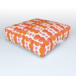 Uende Sixties - Geometric and bold retro shapes Outdoor Floor Cushion