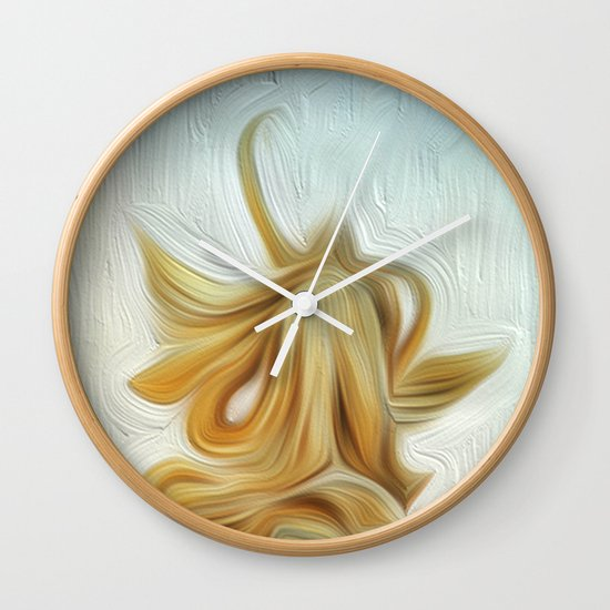 golden hair Wall Clock