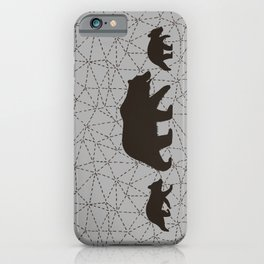 Grizzly Bear Family iPhone Case