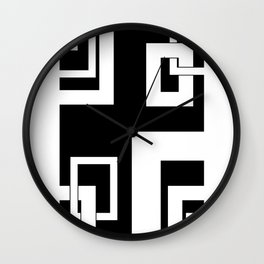 4.2 - frames - black background Wall Clock