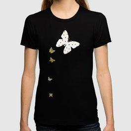 Golden touch II - Gold glitter polka dots T-shirt