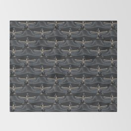 Isis and Nephtys - black Throw Blanket