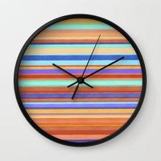 Tropical Stripes Wall Clock