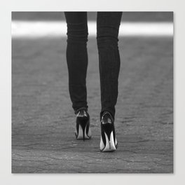 Excess Black and White Canvas Print