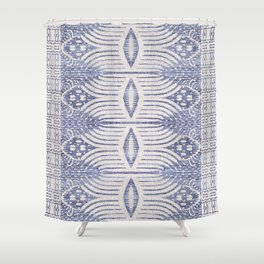 FRENCH LINEN TRIBAL IKAT Shower Curtain