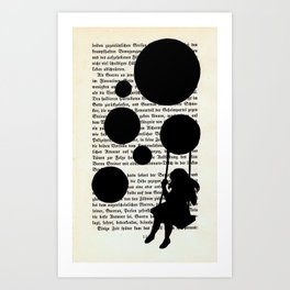 Playing with my Shadows Art Print