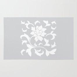 Oriental Flower - Silver Rug