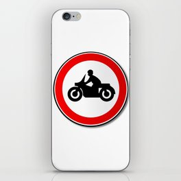 Motorcycle Round Traffic Sign iPhone Skin