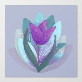 Tulip and Lotus Blossom Canvas Print