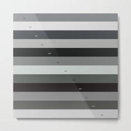 Pantone gray scale Metal Print
