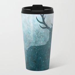 Space Stag Silhouette Travel Mug