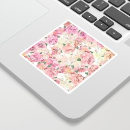 Flowers, Floral Explosion, Floral Pattern, Pink Flowers Sticker