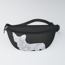 French bulldog marble noir Fanny Pack