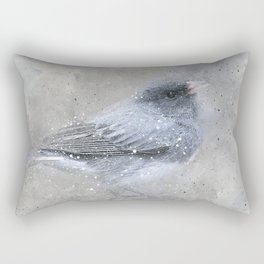 Dark Eyed Junco Bird Rectangular Pillow