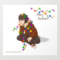 nico di angelo Art Prints featuring Nico Di Angelo by Natalie Art