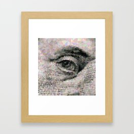 Geometric Eye Framed Art Print