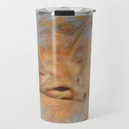 Artistic Animal Fennec Fox Travel Mug