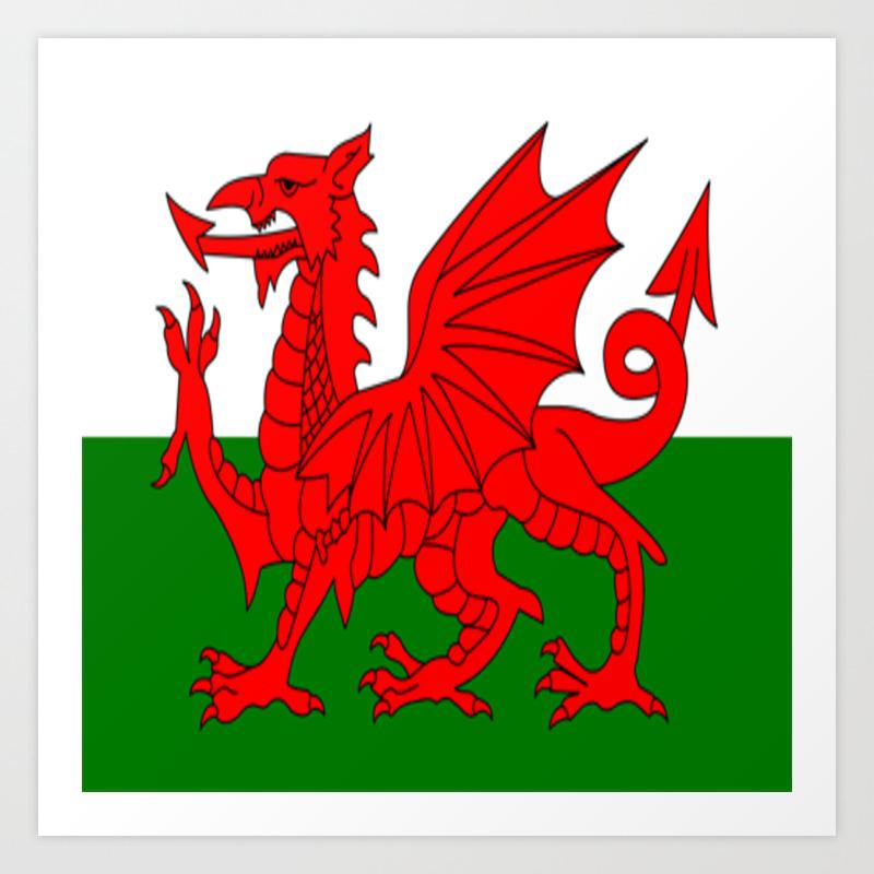 Welsh Dragon Art Print By Hypercore Society6