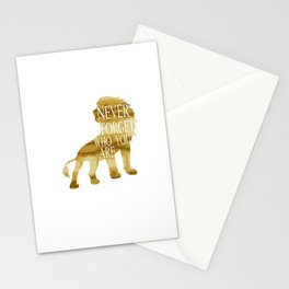 Never Forget Who You Are - Lion Stationery Cards