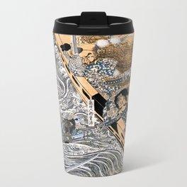 Kuniyoshi Utagawa, The ghost of Taira Tomomori, Daimotsu bay Metal Travel Mug