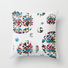 Basic Shapes Pattern 3 - Circles Throw Pillow