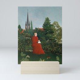 Portrait of a Woman in a Landscape - Henri Rousseau Mini Art Print