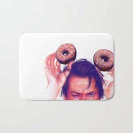 Steve Buscemi and donuts Bath Mat