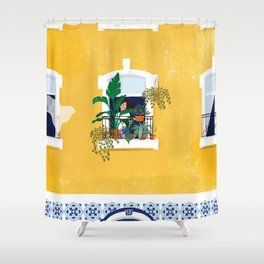 Lisbon girl Shower Curtain
