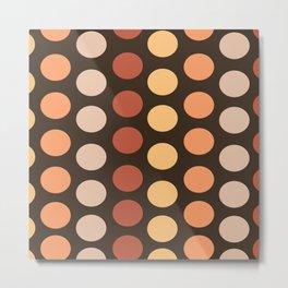 Fall Polka Dots Metal Print