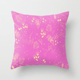 Flower Party (Pink) Throw Pillow