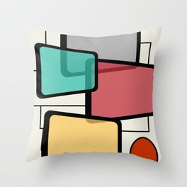 Mid-Century Modern Art Landscape 1.1 Throw Pillow
