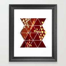 Geometric Shadow Framed Art Print