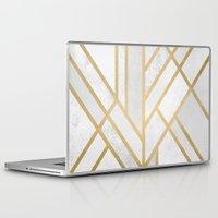 deco Laptop & iPad Skins featuring Art Deco Geometry 2 by Elisabeth Fredriksson