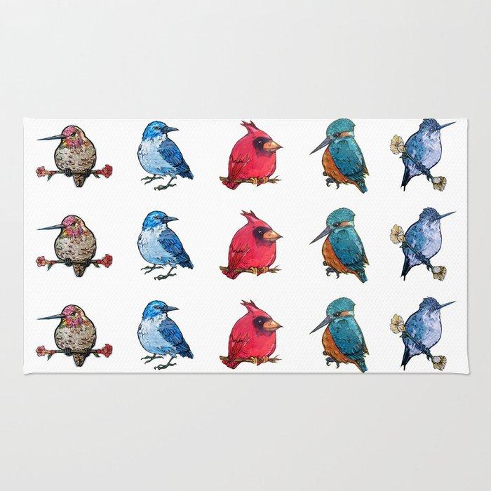 L'il Lard Butts - all the fat birds Rug