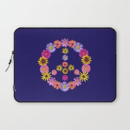 Flower Peace Sign Laptop Sleeve