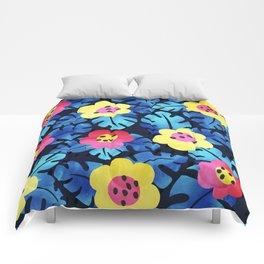 Watercolor tropical bloom Comforters
