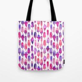Pink Purple Watercolor Popsicles Icepops Tote Bag