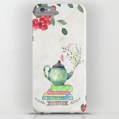 Books & Tea Watercolor Slim Case iPhone 6s Plus