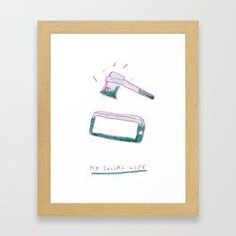 MY SOCIAL LIFE Framed Art Print