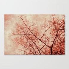 Tree In Red Canvas Print
