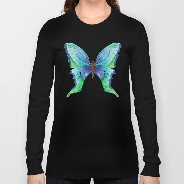 Butterfly Blues Long Sleeve T-shirt