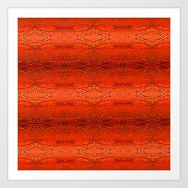 Rustic Orange Geometric Southwestern Pattern - Luxury - Corbin Henry Art Print