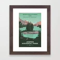 Jasper National Park Poster Framed Art Print