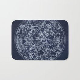 Vintage Constellations & Astrological Signs | White Bath Mat