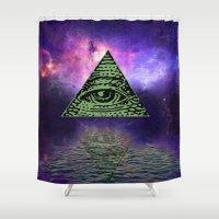 illuminati Shower Curtains featuring Illuminati by gypsykissphotography